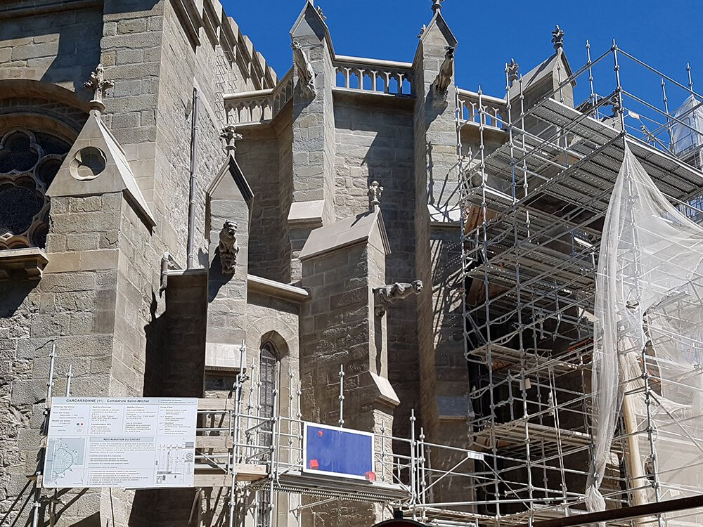 We collaborate on the restauration of Carcassonne cathedral